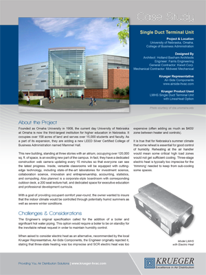 Krueger by Halton Displacement Ventilation Brochure